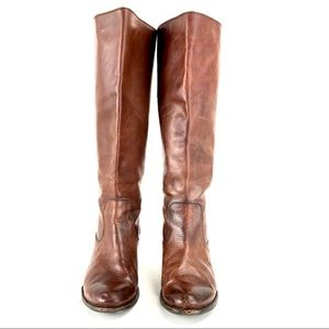 Frye Women's Melissa Flat Snap Tail Leather Boot